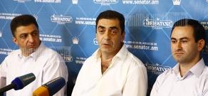 Press conference of plastic surgeons Armen Hovhannisyan, Hayk Yenokyan and Gnel Ananyan