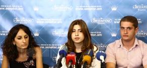 Press conference of youth organizations' activists Hripsime Margaryan and Arman Safaryan