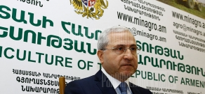 Press conference of RA Minister of Agriculture Sergo Karapetyan