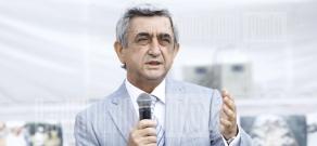 RA President Serzh Sargsyan visits summer camp of