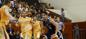Pan-Armenian games basketball final between the teams of Los Angeles and Sochi