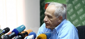 Press conference of Architects' Union chairman Mkrtich Minasyan