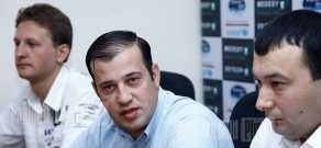 Press conference of the Chairman of Prosperous Armenia Youth Union Vahe Enfiajyan and
