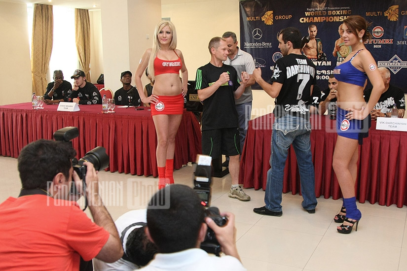 Press-Conference of Vic Darchinyan and Evans Mbamba