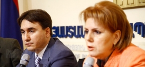 Press conference of RA Deputy PM Armen Gevorgyan and Minister of Culture Hasmik Poghosyan