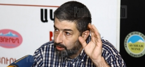 Press conference of geography and map specialist Grigor Beglaryan