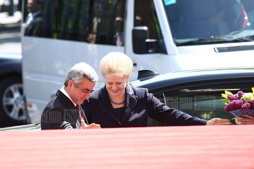 President of Lithuania Dalia Grybauskaitė at RA Presidential House