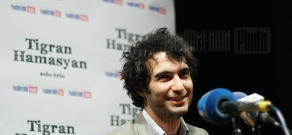 Press conference of jazz pianist Tigran Hamasyan dedicated to his benefit concerts