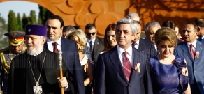 President's reception dedicated to the 20th anniversary of the Armenian Independence at the Sartarabat Battle Memorial