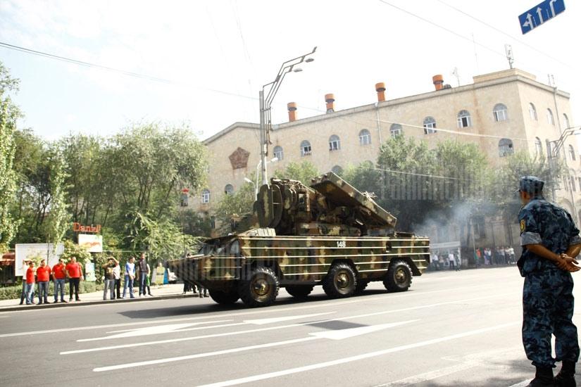Preparations to Armenia's Independence 20th anniversary parade