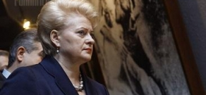 Lithuanian President attends Genocide Memorial
