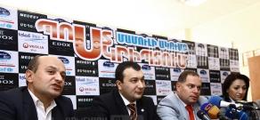 Press conference of Heritage party MP Stepan Safaryan, ARF Dashnaktsutyun MP Lilit Galstyan, Prosperous Armenia MP Vahe Enfiajyan and Republican MP Hovhannes Sahakyan