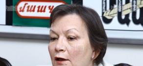 Press conference of Romanian ambassador to Armenia Crina Rodica Prunariu