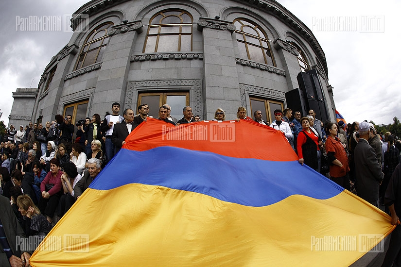 Armenian National Congress protest rally