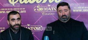 Press conference of Archimandrite Komitas Hovnanian and Fr. Yessai Artenian