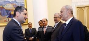 RA PM Tigran Sargsyan receives Lebanese Parliament delegation headed by speaker Nabih Berri