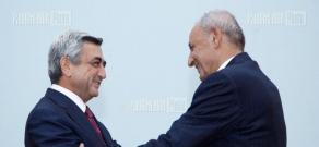 RA President Serzh Sargsyan receives Lebanese Parliament speaker Nabih Berri