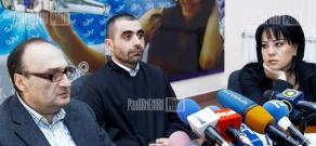 Press conference of Fr. Yesai Artenyan, psychologist Samvel Khudoyan and advocate Varduhi Elbakyan