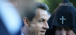 French president Nicolas Sarkozy visits Mother See of Holy Echmiadzin