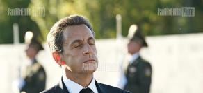 French president Nicolas Sarkozy at Armenian Genocide Memorial