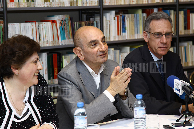 Press conference of French-Armenian actor Jacky Nercessian
