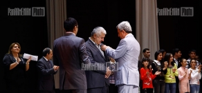 Ceremony dedicated to the 60th anniversary of chess master Rafayel Vahanyan