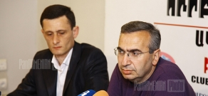 Press conference of Gagik Ginosyan