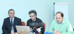 Press conference of Executive Director of Paros Foundation Peter Abajian