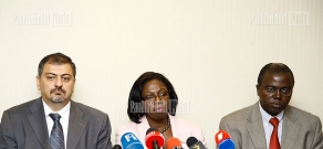 Press conference of RA Finance Minister Vache Gabrielyan and Yvonne Tsikata is the World Bank Sector Director for the Poverty Reduction and Economic Management Unit of the ECA region Yvonne Tsikata