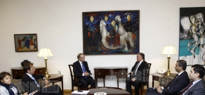 FM Edward Nalbandian receives Wilfried Martens