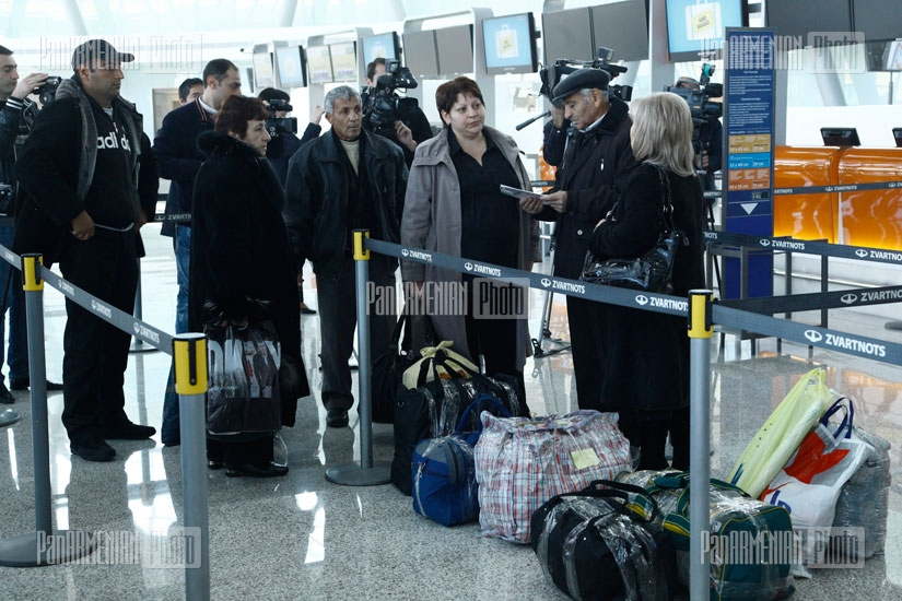 The departure hall of Zvartnots International Ariport new passenger terminal is put into  operation
