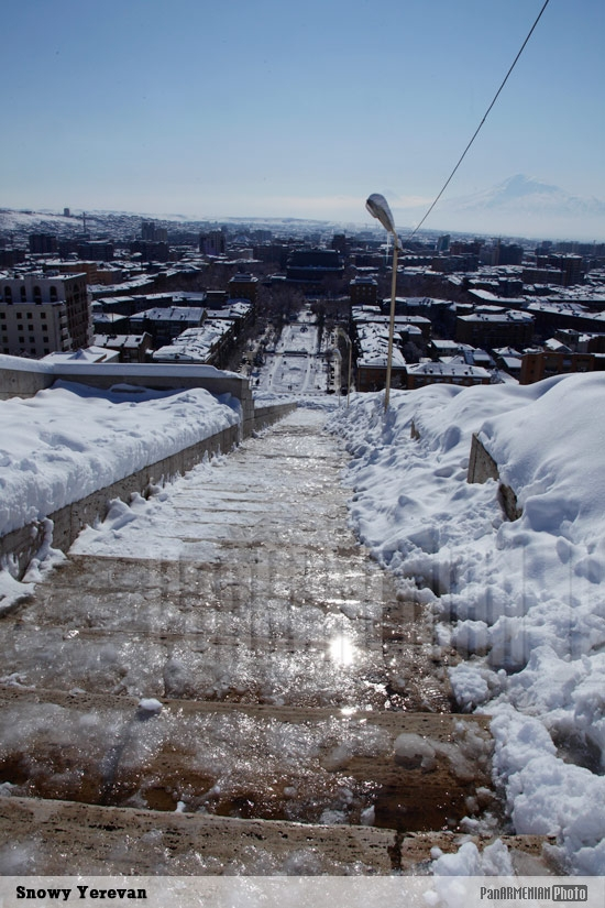 Snowy Yerevan