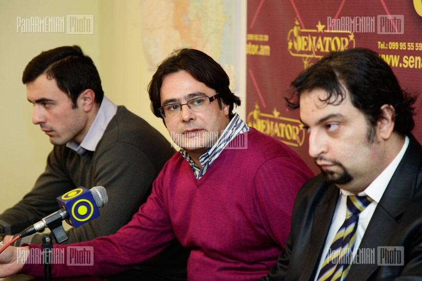 Press conference of Sargis Asatryan, Grigory Ayvazyan, Andreas Ghukasyan concerning Armenians from Azerbaijan