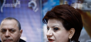 Press conference of Republican MP Karine Achemyan and psychologist Khachatur Gasparyan