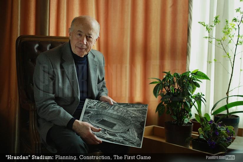 Հրազդան մարզադաշտի ճարտարապետ Գուրգեն Մուշեղյանը