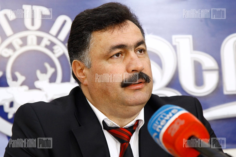 Press conference of newly appointed Honorary Consul of Macedonia to Armenia Arayik Sargsyan