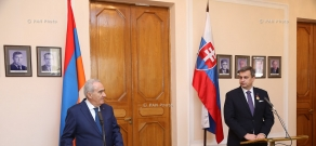 Meeting of Speaker of the Armenian parliament Galust Sahakyan and Speaker of the National Council of Slovakia Andrej Danko