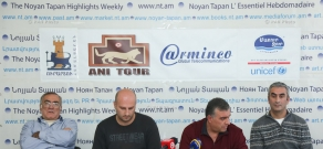 Press conference of 'Hands off our pockets' initiative's members