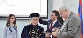 General Manager of Open-Root organization and Internet pioneer Louis Pouzin visits National Polytechnic University of Armenia