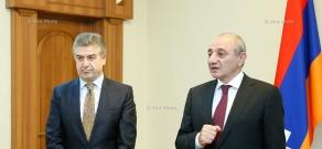 Armenian Prime Minister Karen Karapetyan meets with Artsakh President Bako Sahakyan in the frames of his working visit to the Nagorno-Karabakh Republic