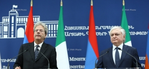 Joint press conference by Minister of Foreign Affairs of Armenia Edward Nalbandian and Minister of Foreign Affairs and International Cooperation of Italy  Paolo Gentiloni