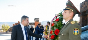 Armenian PM Karen Karapetyan visited the Stepanakert memorial complex