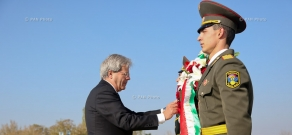 Minister of Foreign Affairs and International Cooperation of Italy  Paolo Gentiloni visits Tsitsernakaberd Memorial Complex