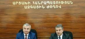 Armenian Prime Minister Karen Karapetyan meets NKR NA Speaker Ashot Ghulyan