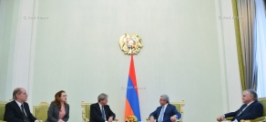 President of Armenia Serzh Sargsyan receives Minister of Foreign Affairs and International Cooperation of Italy Paolo Gentiloni