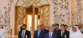 RA President Serzh Sargsyan visited Armenian Church of Holy Martyrs in Abu Dhabi, the Ara Knanoyan Sunday School of Church, the Grand Mosque of Sheikh Zayed and the Embassy of Armenia in the UAE