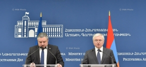 Joint press conference by Minister of Foreign Affairs of Armenia Edward Nalbandian and Moldova's Deputy Prime Minister, Minister of Foreign Affairs and European Integration Andrei Galbur