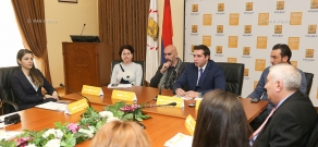 Press conference on the first outdoor advertising festival in Yerevan