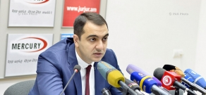 Press conference of Deputy Minister of Energy and Natural Resources of Armenia Hayk Harutyunyan