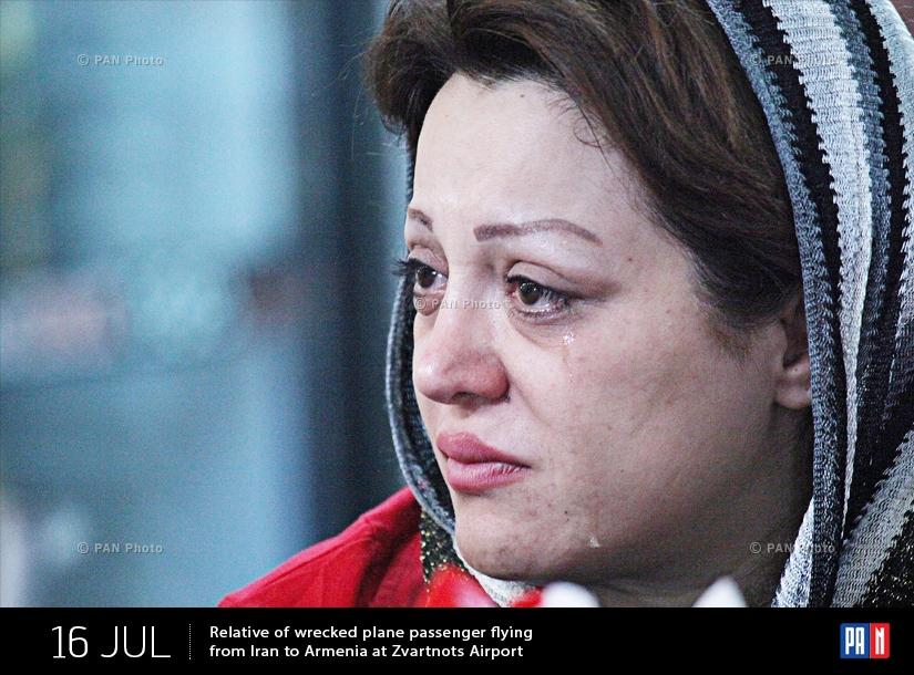Իրանից Հայաստան թռչող կործանված ինքնաթիռի ուղևորներից մեկի հարազատը «Զվարթնոց» օդանավակայանում